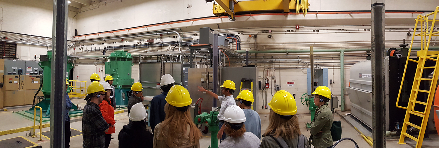 photo of our team visiting the EL Smith Water Treatment plant in Edmonton